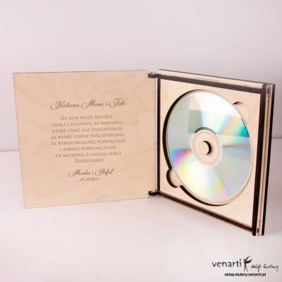 Drewniane etui CD/DVD z dowolnym nadrukiem CD002