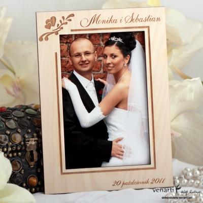 Ślubna ramka na zdjęcia R004