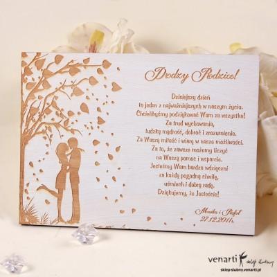 Drewniany dyplom ślubny D007