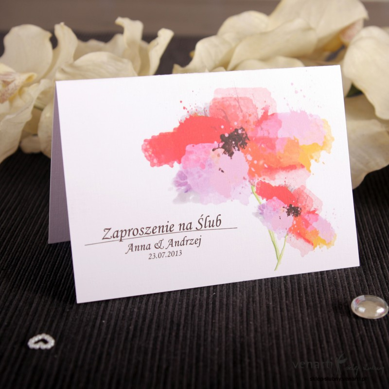 Zaproszenie ślubne Kwiat
