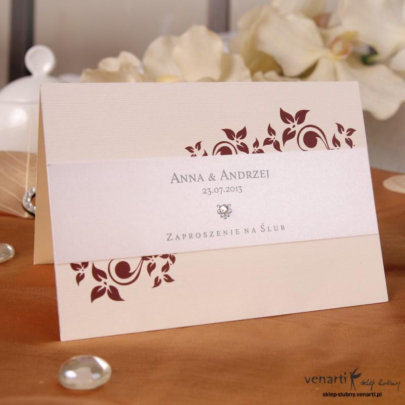 Zaproszenie ślubne kwiatowe