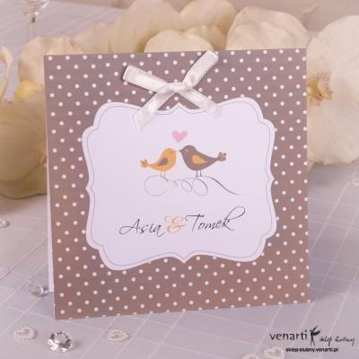 Zaproszenia ślubne w kropki