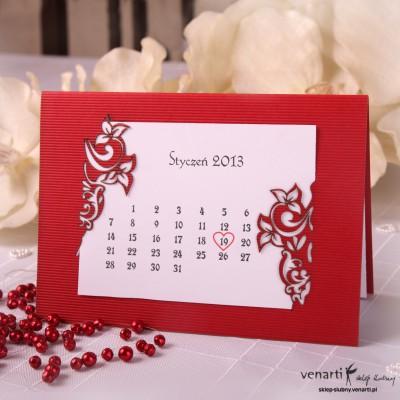 Zaproszenia ślubne laserowe Kalendarz
