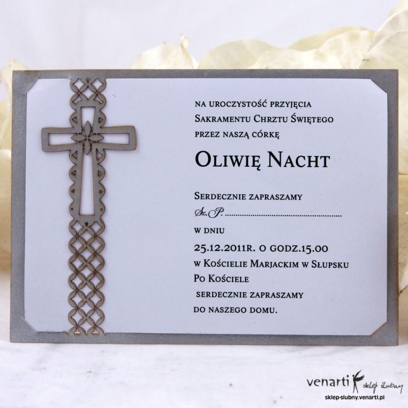 Zaproszenie Na Chrzestkomunię Kch001 224 Sklep ślubny Venarti