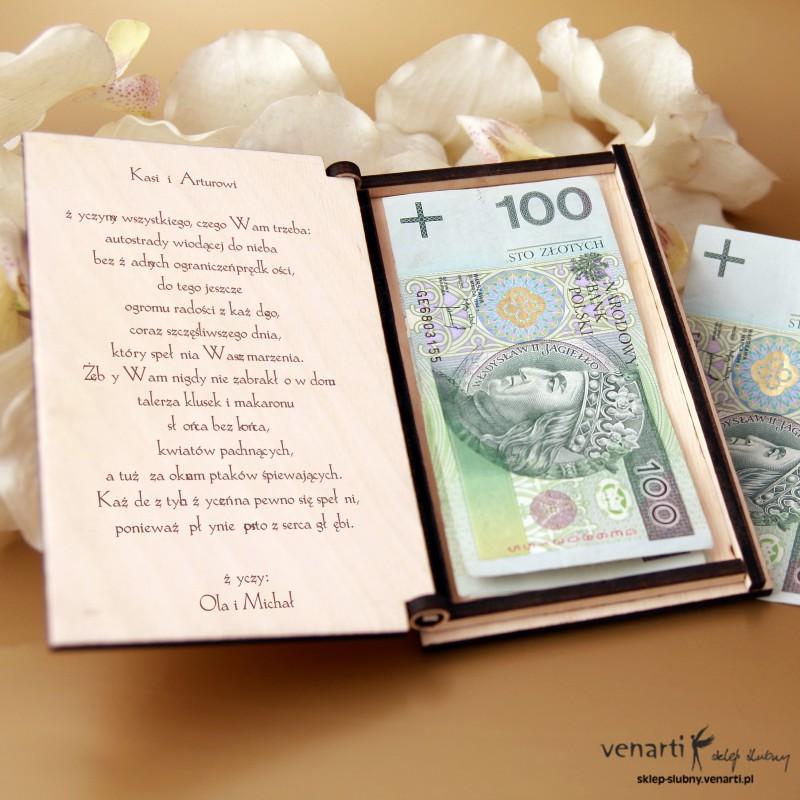 Cudowna Pudełko, koperta na pieniądze pp001 (241) - Sklep ślubny Venarti NU74