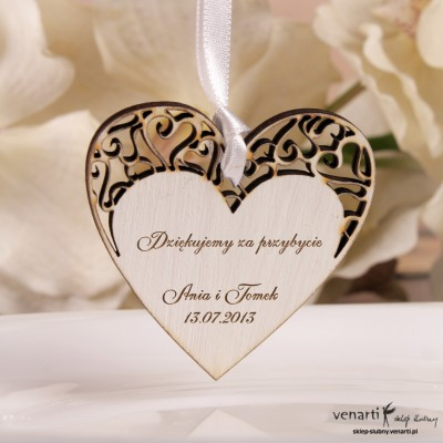 Ślubne serce z grawerem BD014