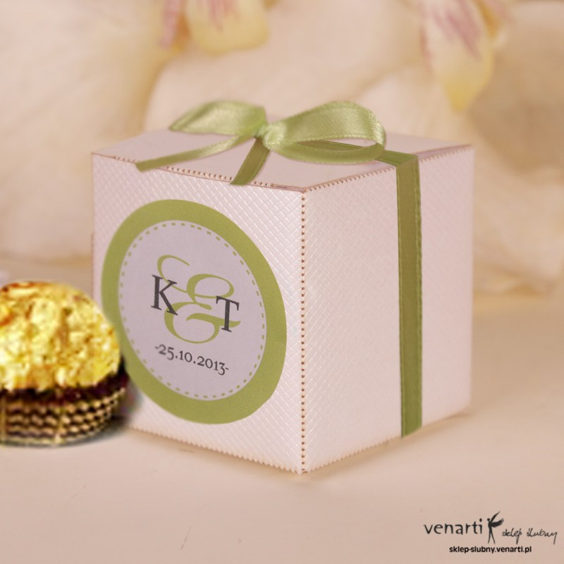 Pudełko dla gości weselnych P017