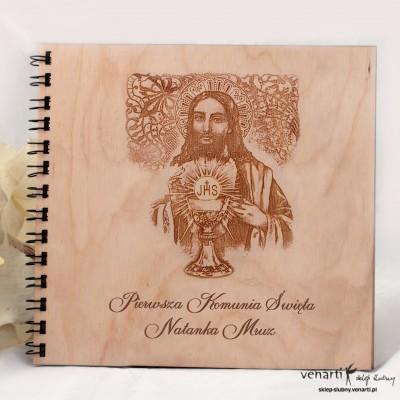 Drewniany album komunia