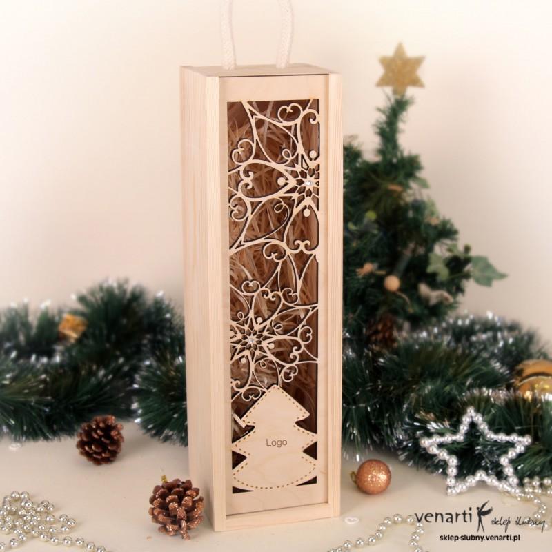 Świąteczna skrzynka na wino SWSKM001