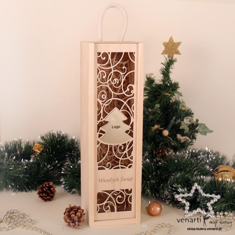 Świąteczna skrzynka na wino SWSKM002