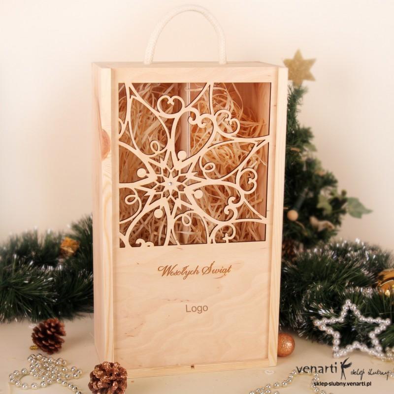Świąteczna skrzynka na 2 wina SWSKS001