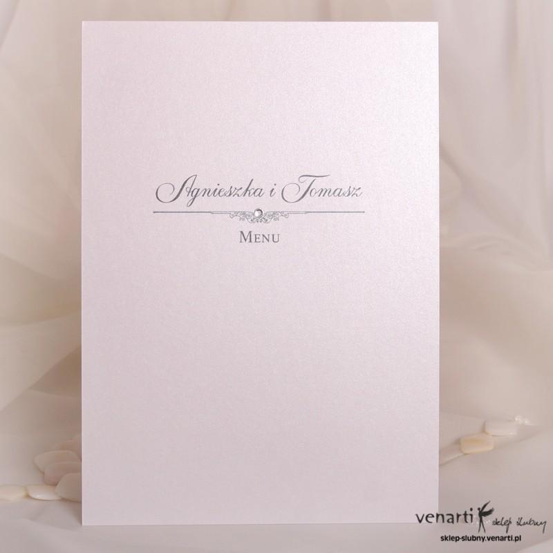 Menu weselne perłowe
