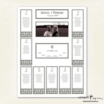 Plan stołu weselny