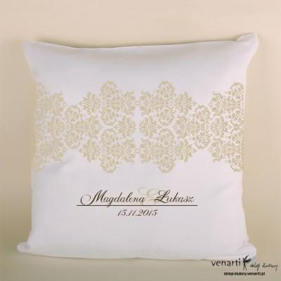 Poduszka ślubna koronkowa jasna