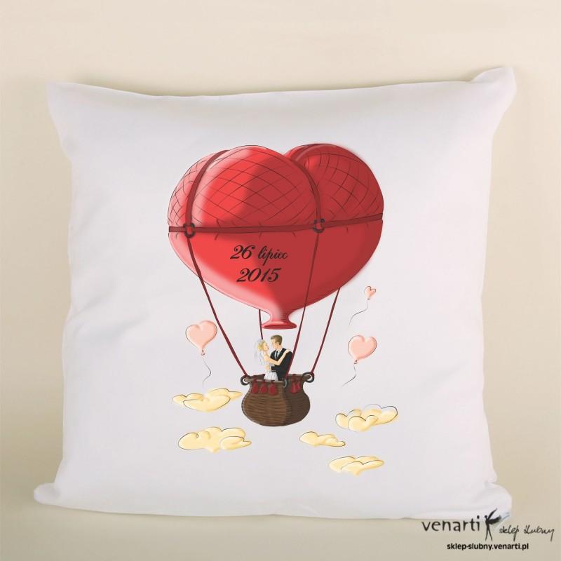 Poduszka ślubna balon serce PODSL018