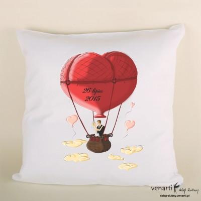 Poduszka ślubna balon serce