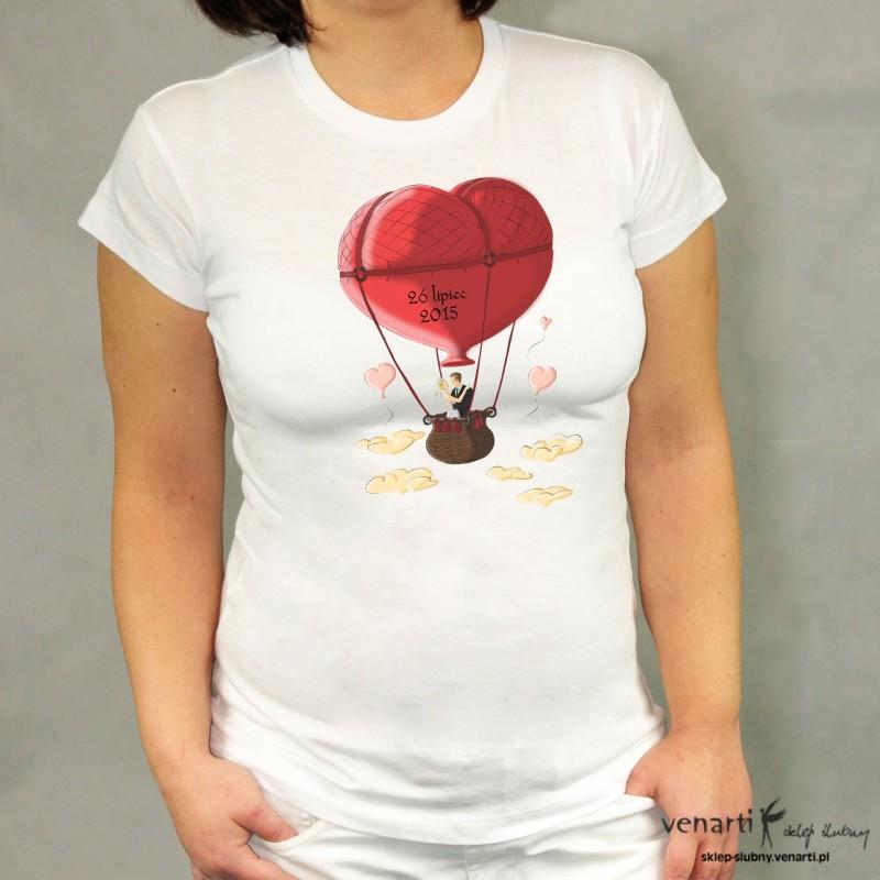 Koszulka ślubna balon serce KOSZ017
