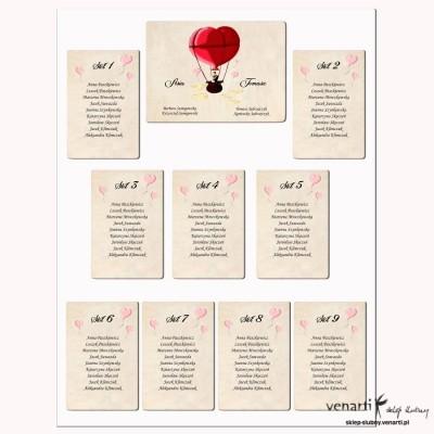 Plan stołu Para w balonie