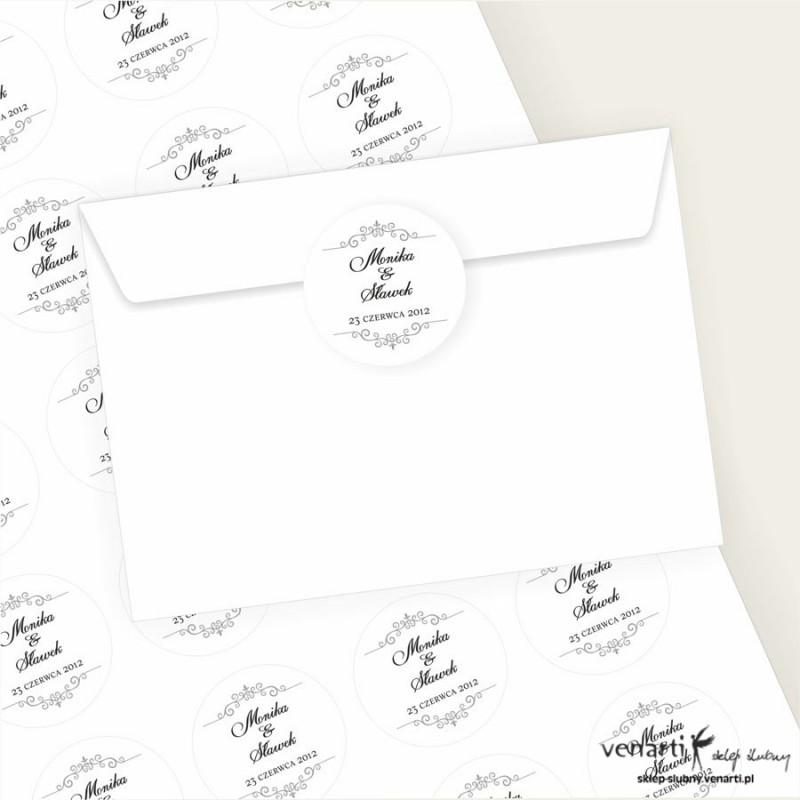 Naklejki na koperty - dowolny wzór