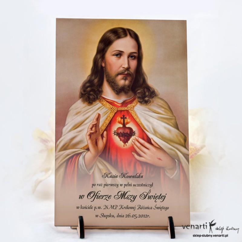 Statuetka drewniana komunijna z Jezusem