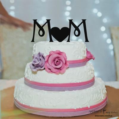 Monogram na tort z sercem