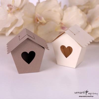 Pudełko dla gości weselnych Domek dla ptaszków