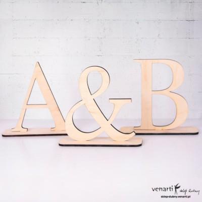 Litery na stół weselny