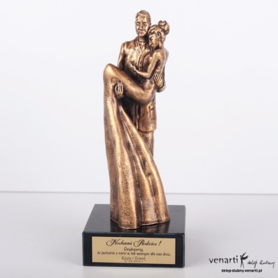 Para młoda statuetka - złota - mała podstawka