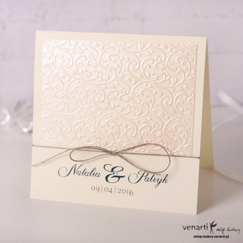 Zaproszenia ślubne tłoczone KT005