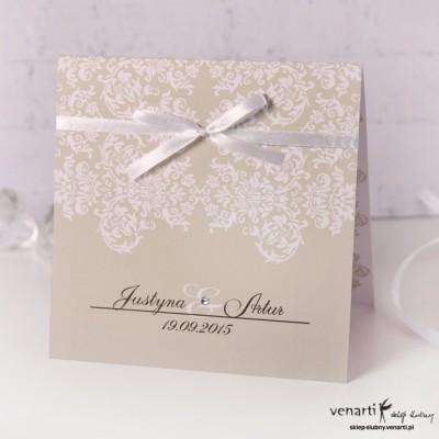 Zaproszenia ślubne rustykalne K016