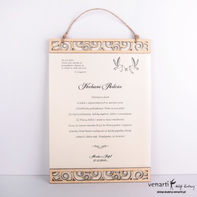 Elegancki dyplom papierowy DP001