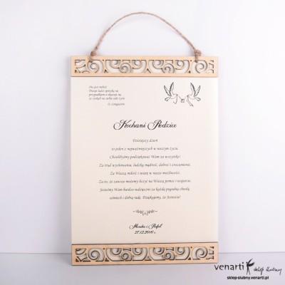 Elegancki dyplom ślubny DP001
