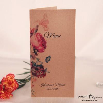 Menu weselne eco kwiatowe