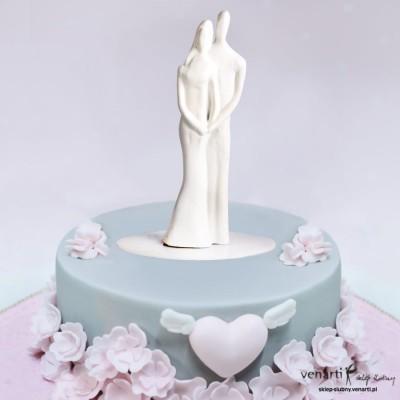Figurki na tort Para młoda różne kolory