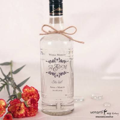 Etykiety na alkohol przeźroczyste dowolny wzór