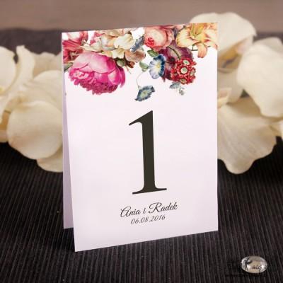 Numerki na stół kwiaty