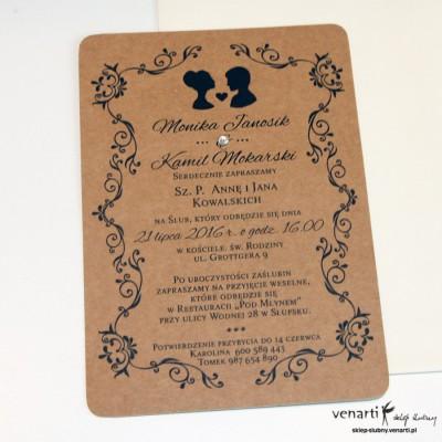 Zaproszenia ślubne eko Twarze KP035