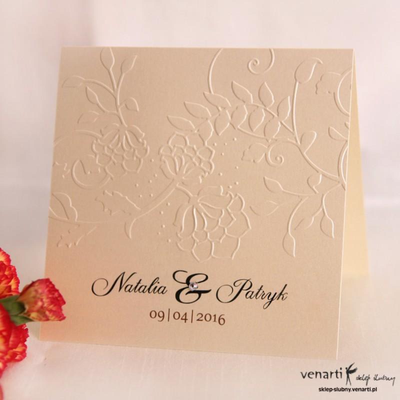 Zaproszenia ślubne tłoczone KT010