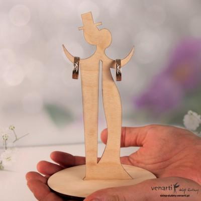 Drewniana figurka na obrączki PUO003