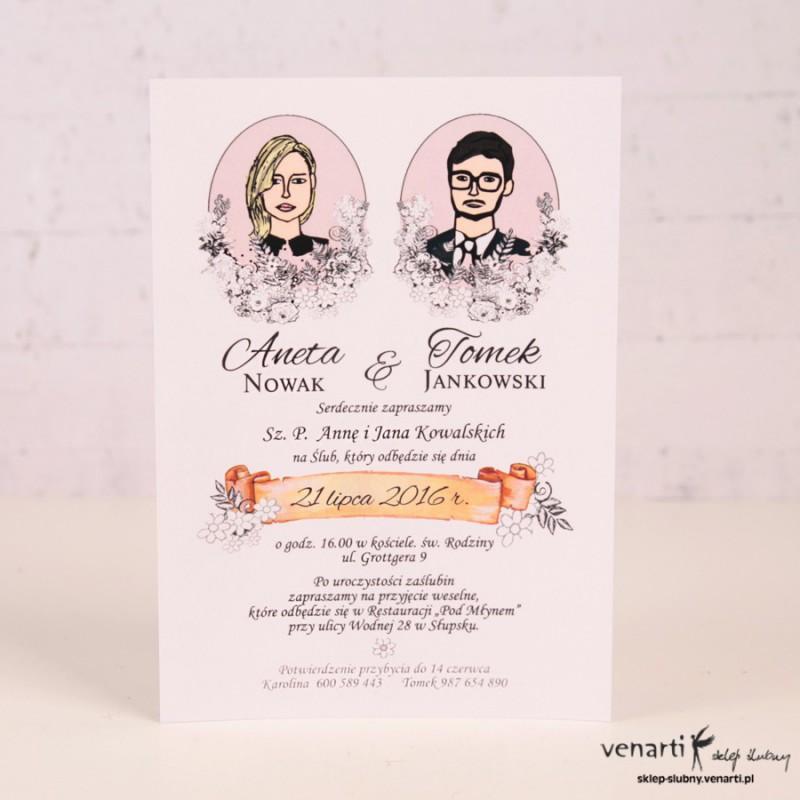 Zaproszenia ślubne KP038