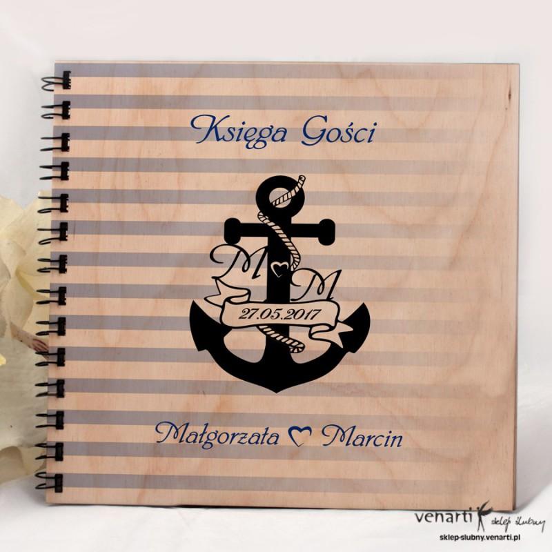 Drewniany album, księga wpisów A009