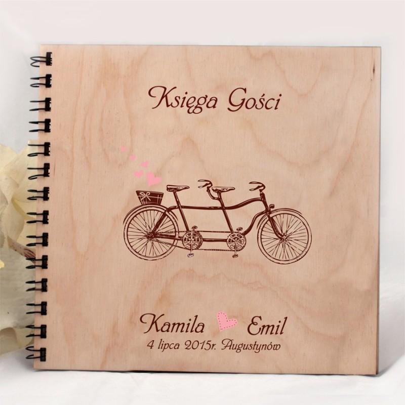 Drewniany album, księga wpisów A007