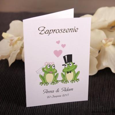 Zaproszenia ślubne Żaby