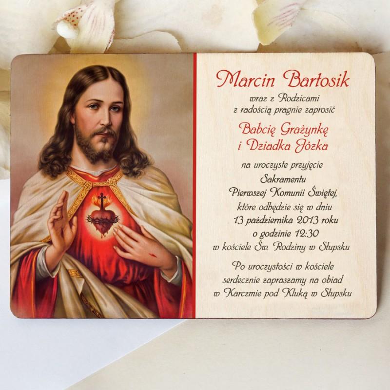 Drewniane Zaproszenie Komunia Dkch005 933 Sklep ślubny Venarti