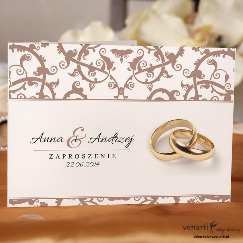 Zaproszenie ślubne ażurowe KP011