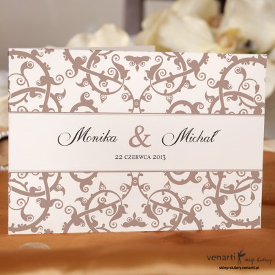 Zaproszenie ślubne ażurowy wzorek