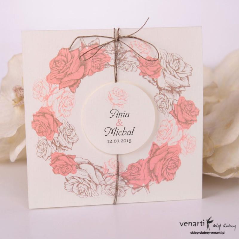 Zaproszenia ślubne rustykalne kwiatowe