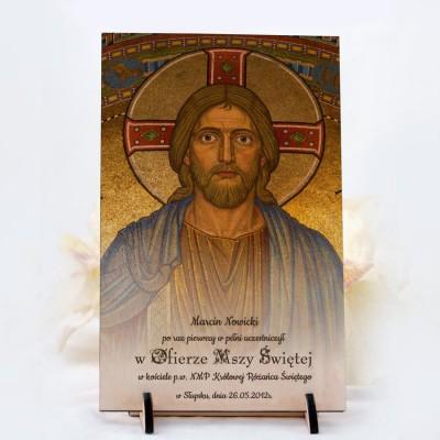 Statuetka drewniana komunijna z Jezusem 2