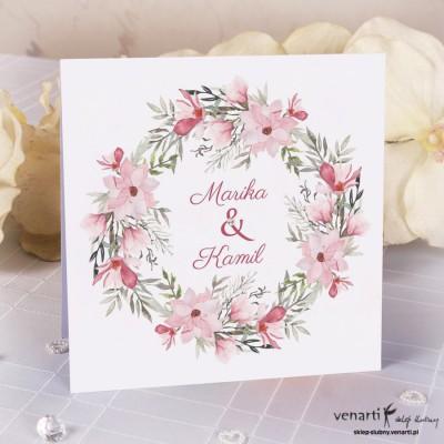 Zaproszenia ślubne Magnolia K041