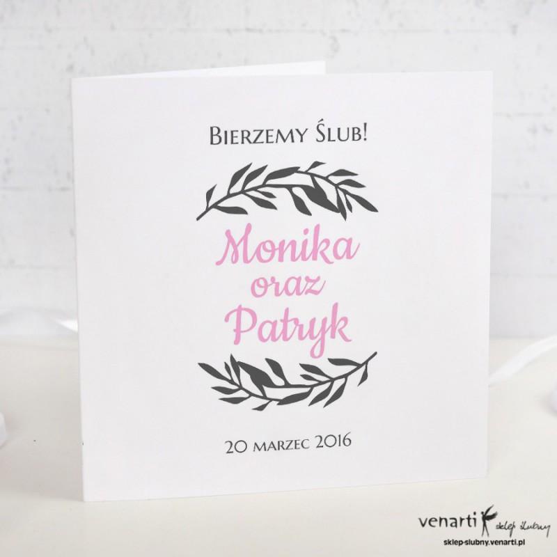 Zaproszenia ślubne Wianek